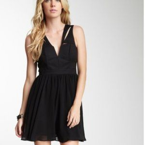 Bardot Cutout Black Mini Flip Dress Size 8